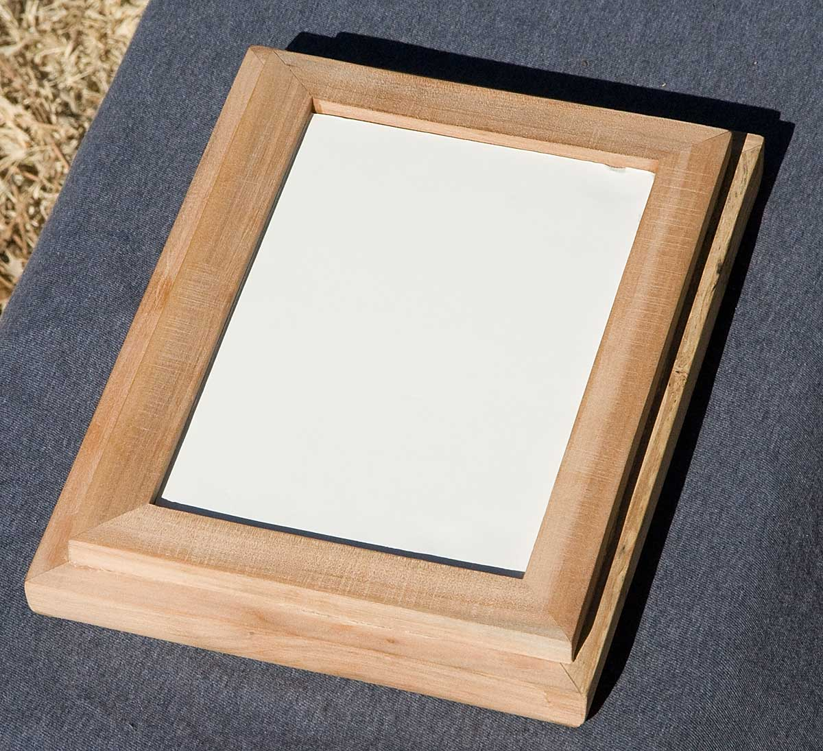 Apple wood picture frame